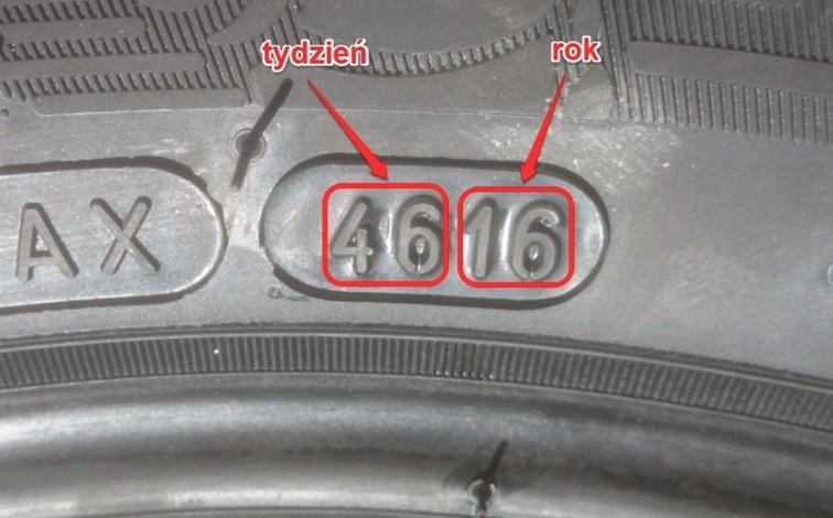 Data produkcji opony samochodowej